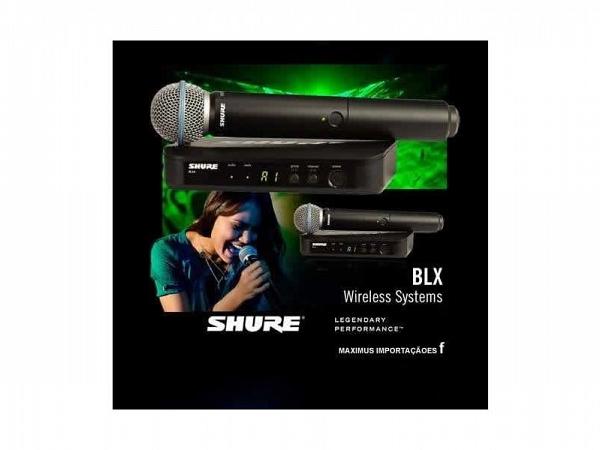 MICROFONE SEM FIO SHURE MAO BLX24BR/BETA58