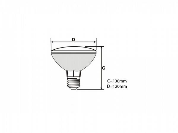 LAMPADA STARLUX PAR 38 CLARA