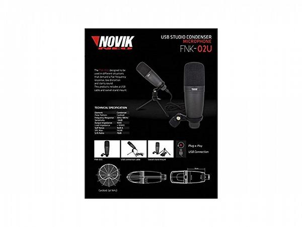 MICROFONE NOVIK CONDENSADOR NEO USB FNK 02U