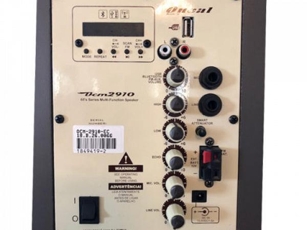 CAIXA MULTIUSO ONEAL OCM 2910 MARRON USB/SD/FM /F.S./120W